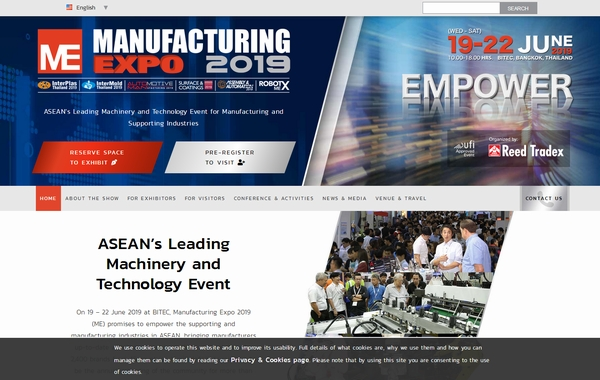 MANUFACTURING EXPO 2019 in Bangkok: Booth (No 5A33) Support
